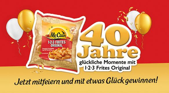 123 Frites Promotion 40 Jahre